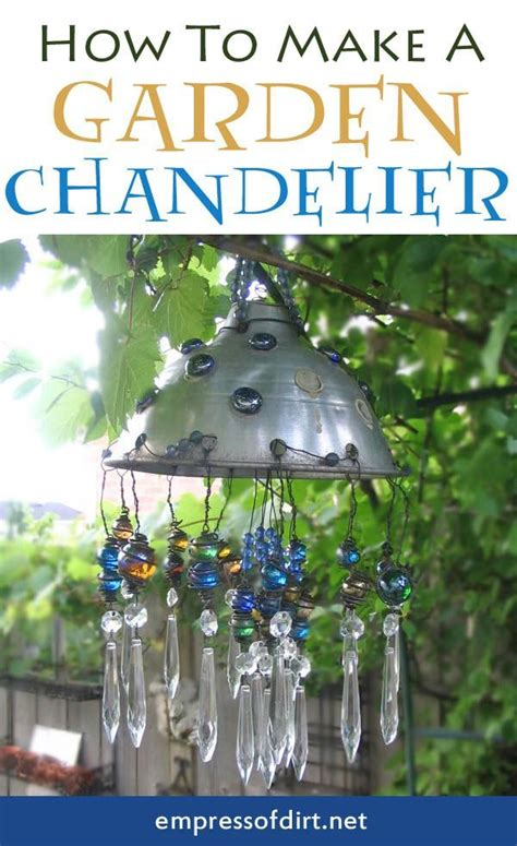 How To Make Chandelier How To Make A Garden Chandelier From Junk Including A Kitchen Colandar And L Crystals