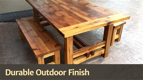 Excellent Wooden Outdoor Table Rustic Wood Furniture Image