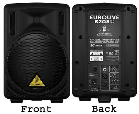 Speaker Subwoofer 200 Watt behringer eurolive b208d active 200 watt 2 way pa speaker system with 8 quot woofer and 1 35