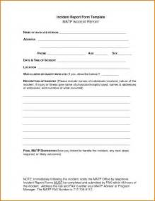 Ohs Incident Report Template Free by 8 Incident Report Form Template Bibliography Format
