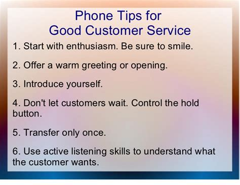 service tips customer service general