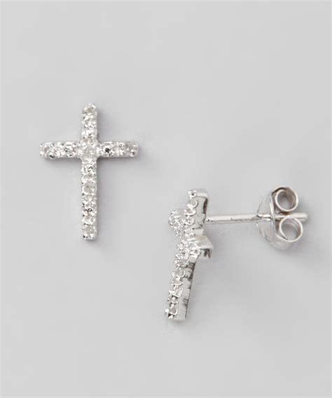 Cross Sterling Silver Earring sterling silver cross stud earrings