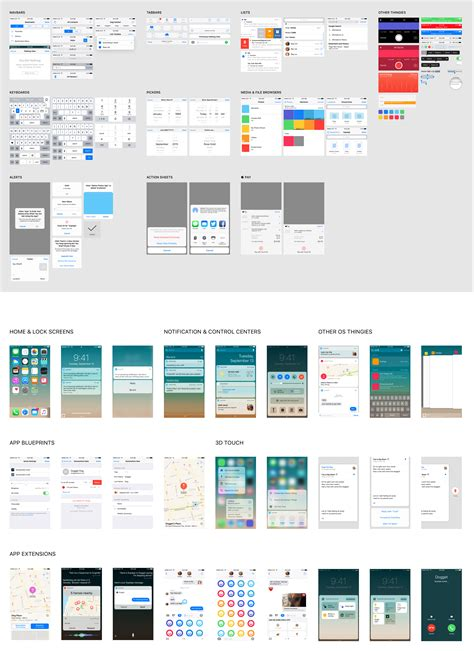 Ios Splash Screen Template Psd by Ios 10 Complete Ui Sketch Psd For Iphone 5 6 And 6
