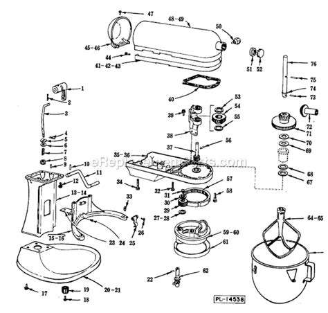 KitchenAid K5 A Parts List and Diagram : eReplacementParts.com