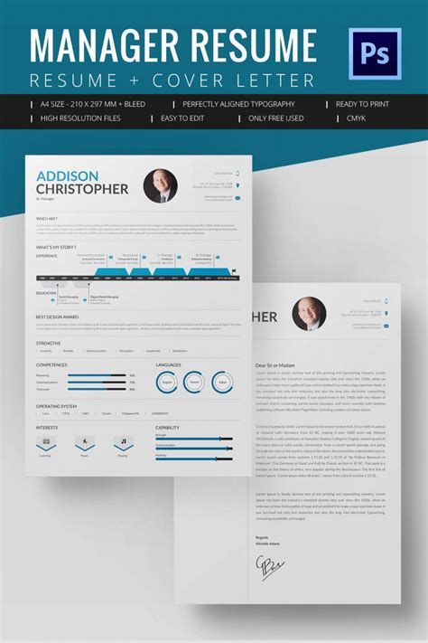 Project Manager Resume Template 10 Free Word Excel Pdf Format Download Free Premium Templates For Microsoft Word