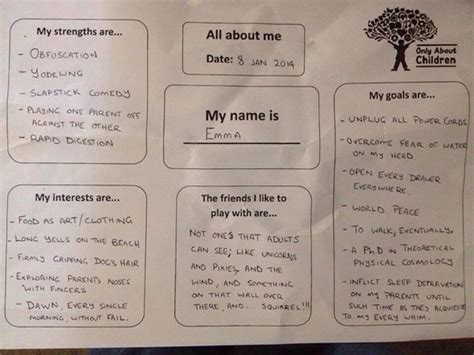 gave honest answers to daycare questionnaire neatorama