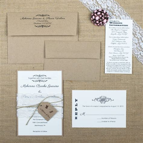 shabby chic wedding invitations too chic little shab design studio inc