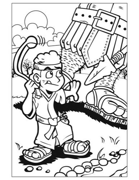 coloring page for david and goliath life changing words llc 187 kids corner david goliath