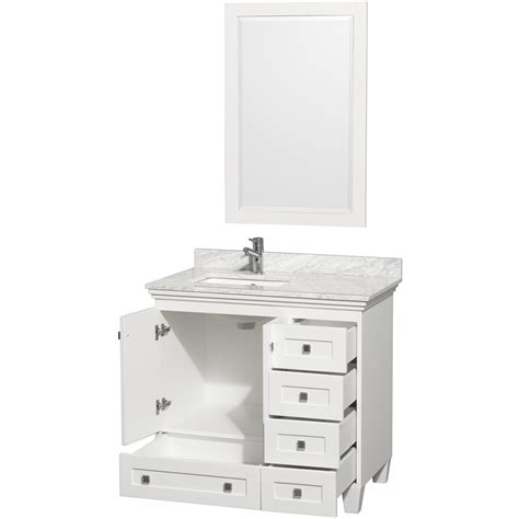 Acclaim 36 Quot White Bathroom Vanity Set Featuring Soft
