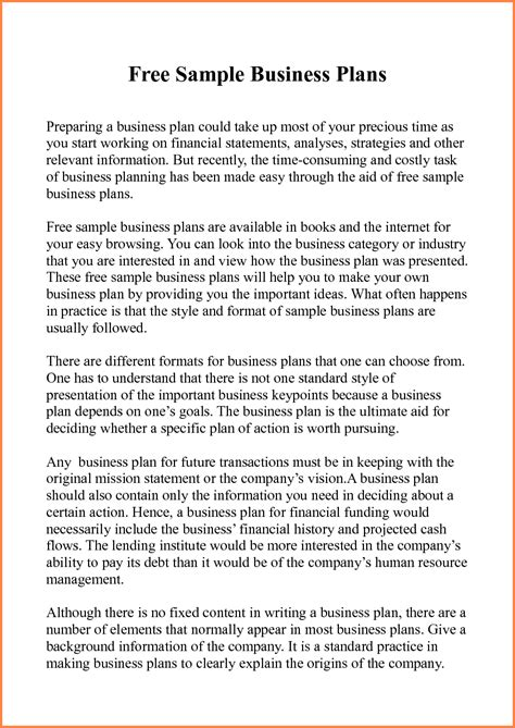 5 Sle Of Business Plan Proposal Pdf Project Proposal How To Write A Business Plan Template Pdf