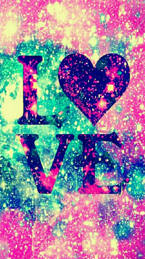 imagenes para wallpaper love glitter galaxy iphone android wallpaper i created for