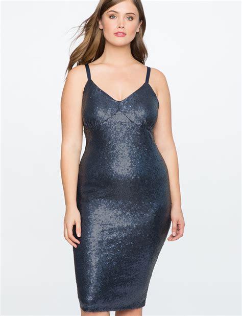 sequins and sunglasses slip on your sequin dress glare sequin slip dress eloquii