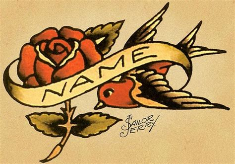 sailor jerry swallow and rose the beauty bar pinterest