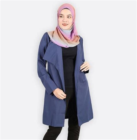 28 model blazer wanita modern muslim batik trendy 2018