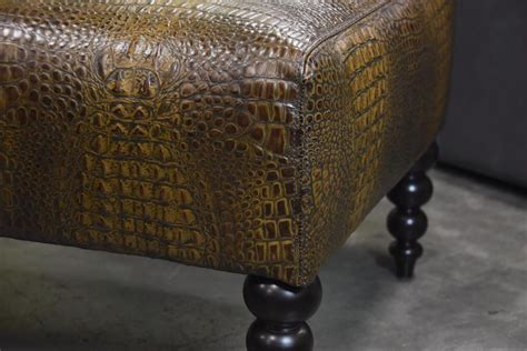 crocodile ottoman animal skin ottoman crocodile furniture suppliers