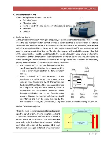 hollow cathode l in atomic absorption spectroscopy atomic absorption spectroscopy
