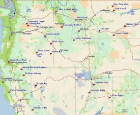 Northwest United States Map by Fort Tours Inc Mountain Pacific Forts