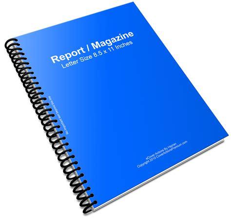 spiral binder report book script cover actions