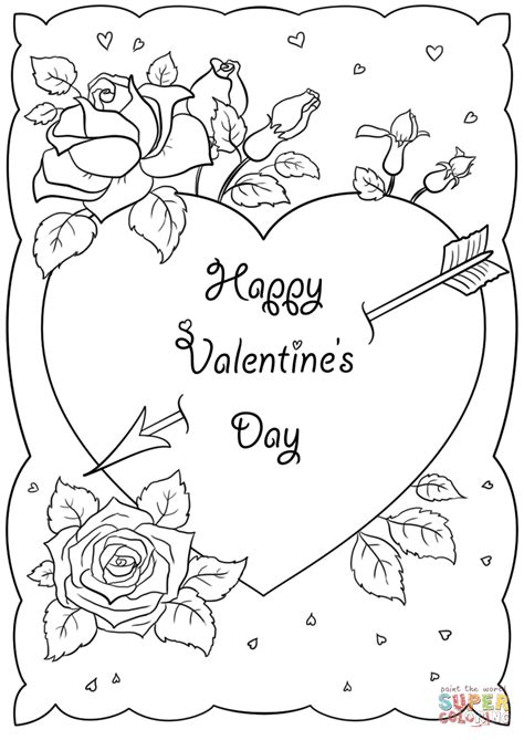printable coloring valentines day cards kids coloring