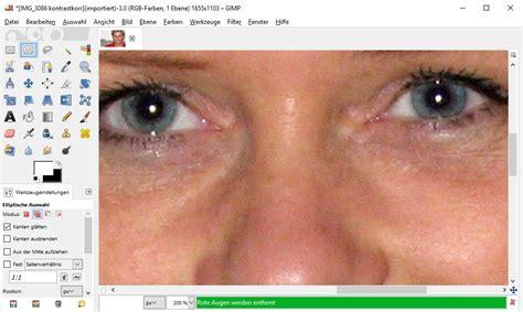 gimp tutorial rote augen entfernen rote augen aus bildern entfernen