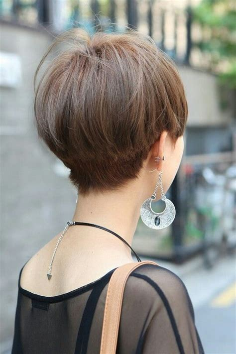bob tapered sides and back pixie bob back view nape tapered slight undercut hair
