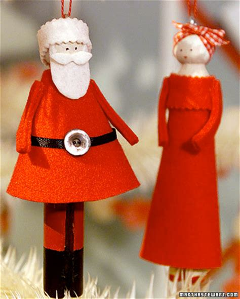 christmas craft project mr and mrs claus clothespin