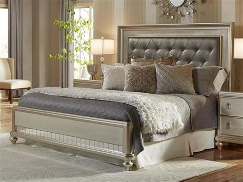 Bling Bedroom Set by King Platinum Bling Upholstered Bed Pkg The