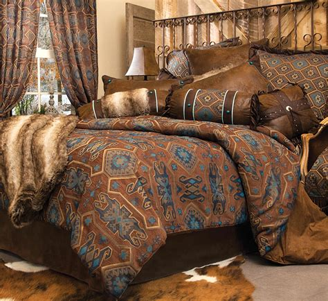 rustic comforter sets king rustic bedding king size turquoise mesa bed set black