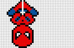 spider man pixel art brik