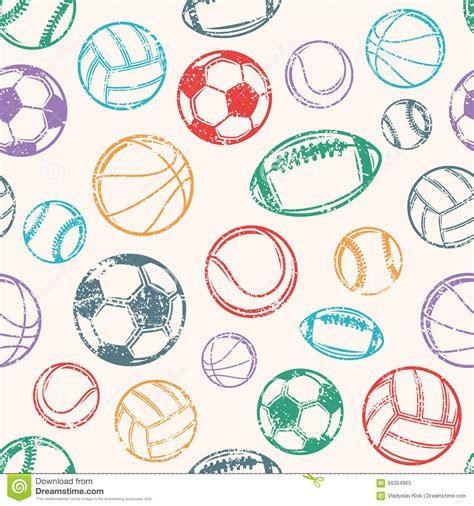 sport pattern background free sports balls grunge background seamless pattern stock