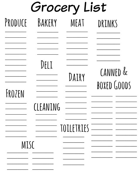free printable online grocery list maker how to make a grocery list grocery list template
