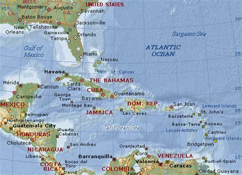 caribbean sea map caribbean sea map location images