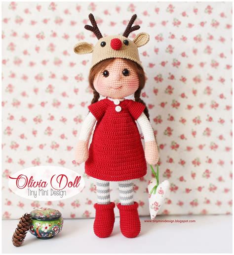 design doll english amigurumi olivia doll knittting crochet knittting crochet