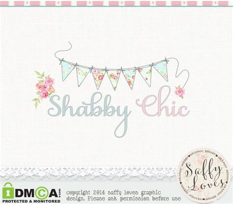 shabby chic premade premium business logo design 45 by saffyloves 163 15 00 logo inspiraci 243 n