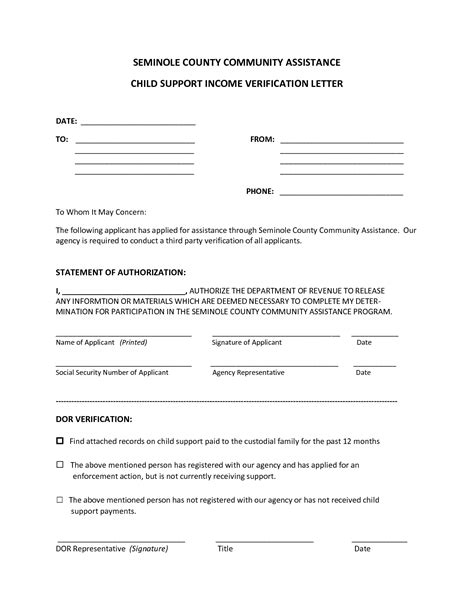 Support Verification Letter Best Photos Of Template Of Verification Of Support Proof Financial Support Letter Income