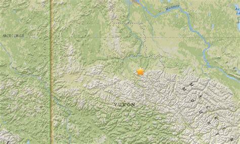 earthquake yukon rare m5 0 earthquake hits just below arctic circle in