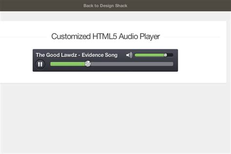 Design Html Audio Player   creating a custom html5 audio element ui design shack