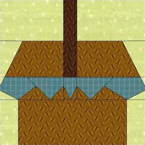 Quilt Paper Craft - picnic basket paper pieced quilt pattern by