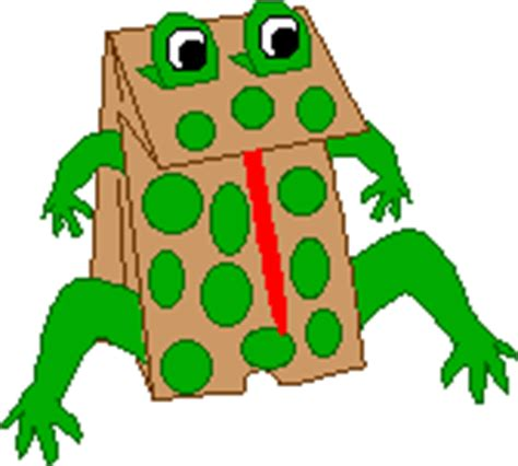 frog paper bag puppet pattern paper bag frog puppet craft