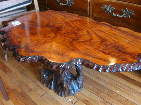 Wood Tree Trunk Coffee Table Classic Style Solid Rustic Tree Trunk Coffee Table Design