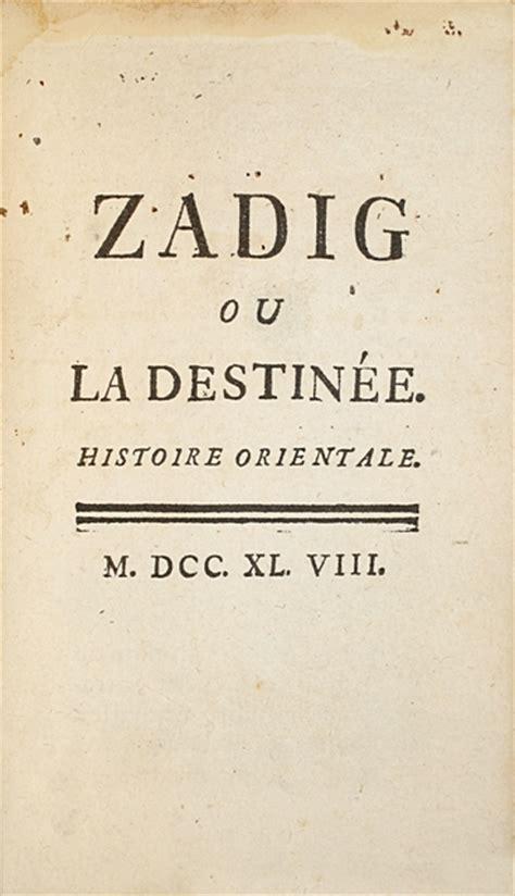 zadig suivi de pr 233 cieux exemplaire de 171 zadig 187 librairie camille sourget livres rares paris