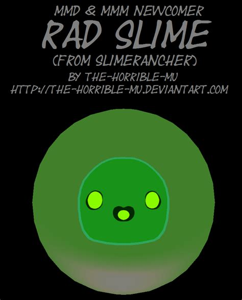 Slime M M mmd m3 newcomer rad slime dl by the horrible mu on