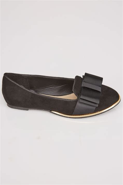 international comfort products customer service black comfort insole ballerina pumps with gold trim in e fit