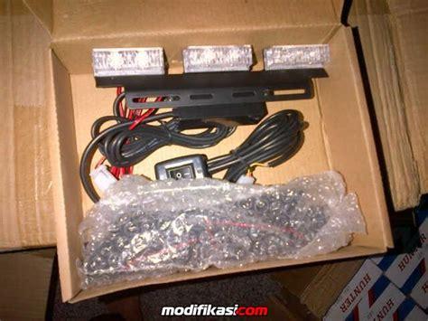 Strobo Dasboard 3 Baris Biru Biru Federal Signal dj auto jual berbagai macam kebutuhan lighting untuk mobil