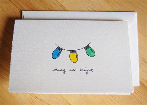 images of christmas cards to draw cute christmas card simple christmas lights drawing