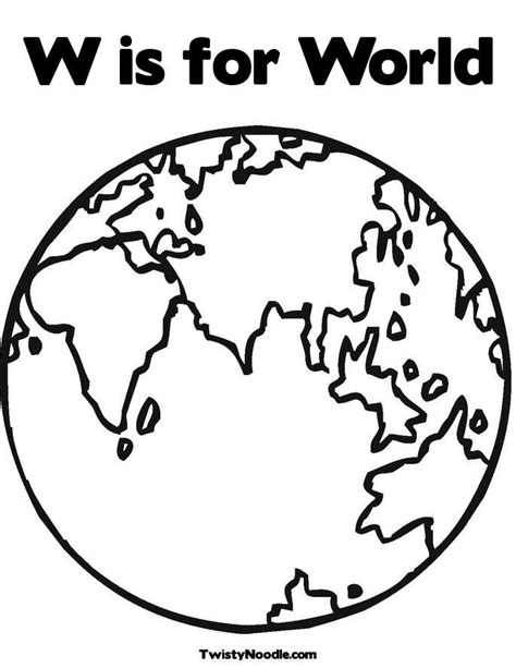 World Globe Coloring Pages Coloring Home Globe Coloring Pages