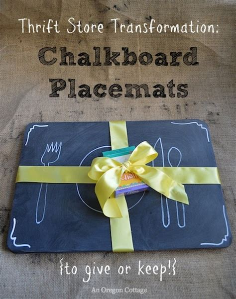 diy chalkboard placemats thrifted chalkboard placemats