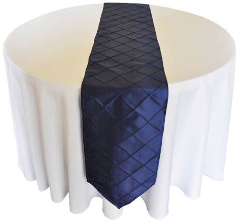 navy blue table runner 13 quot x 108 quot navy blue pintuck table runner 120 quot white