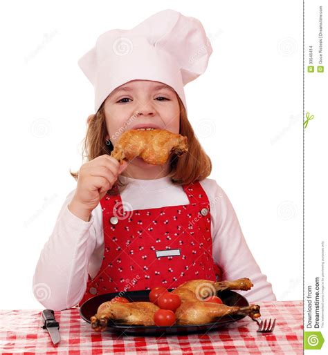 ate chicken cook eat chicken drumstick stock images image 33546414