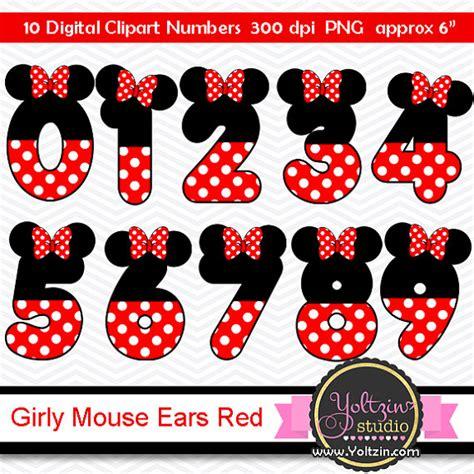 numeri clipart clipart minnie mouse numeros cliparts clip numero mimi kit